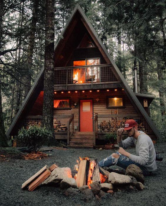 Cabaña moderna de dos dormitorios
