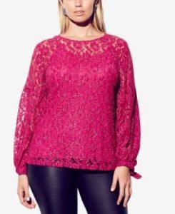 Blusas color rosa de fiesta para gorditas