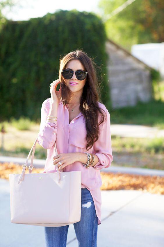 Blusas color rosa juveniles