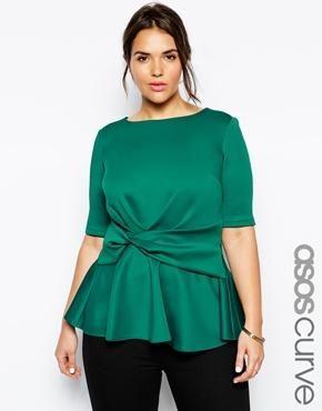 Blusas color verde de fiesta para gorditas