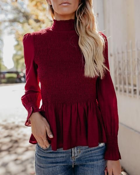 Blusas color vino 2018