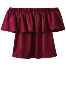 Blusas color vino para mujer juveniles