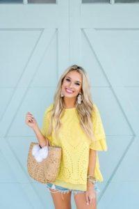 Blusas de moda amarillas