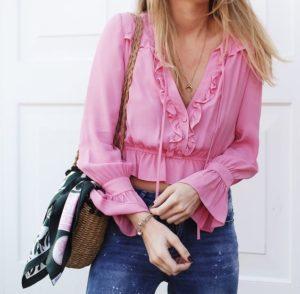 Blusas de moda color rosa