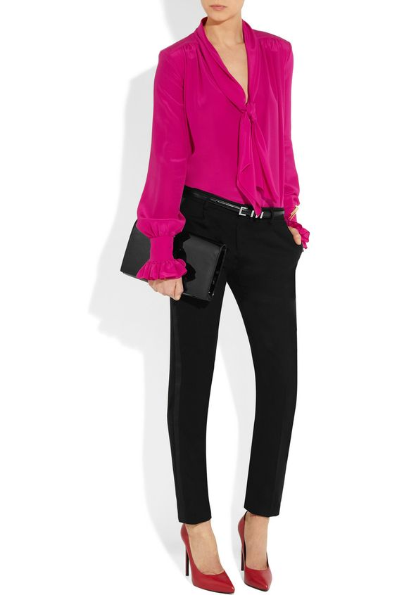 Blusas de moda color rosa formales
