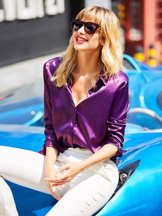 Blusas de moda moradas