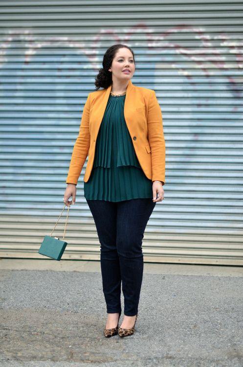 Blusas modernas verdes para gorditas