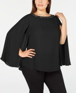 Blusas negras elegantes para gorditas