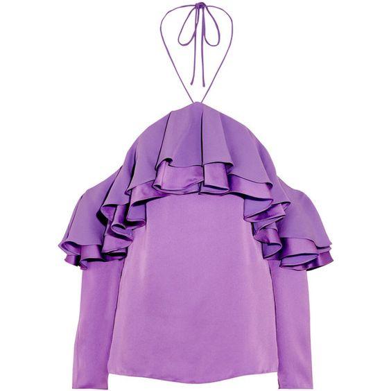 Diseños de blusas de moda moradas 2018