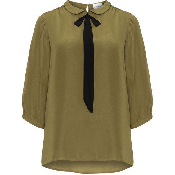 Diseños de blusas verdes para gorditas 2018