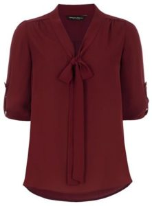 Imágenes de blusas color vino para mujer