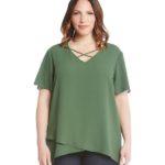 Imágenes de blusas verdes de moda para gorditas