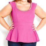 Imágenes de moda en blusas rosas para gorditas