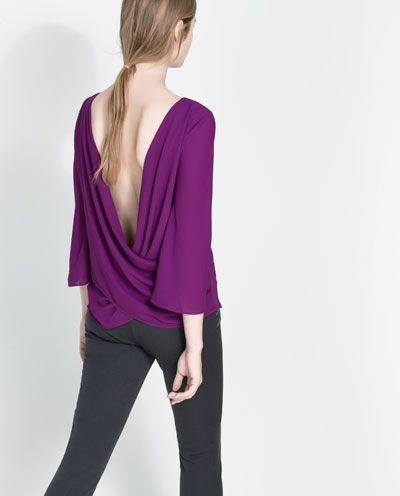 Looks con blusas moradas
