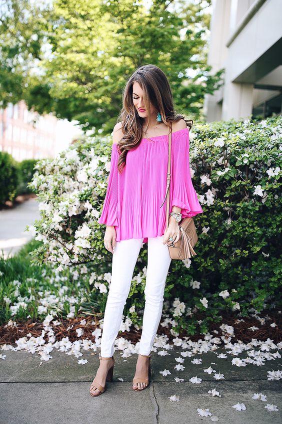 Looks con blusas rosas de moda