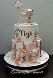 Pastel O Torta De Animales Para Baby Shower