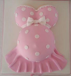 Pastel O Torta De Embarazada Para Baby Shower