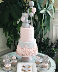 Pastel O Torta De Fondant Para Baby Shower