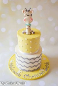 Pastel O Torta De Jirafa Para Baby Shower