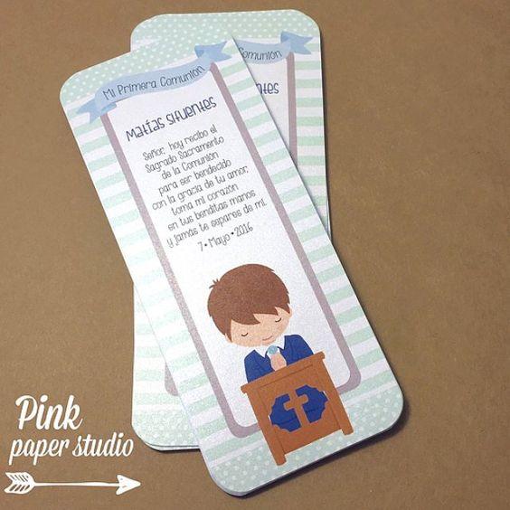 tarjetas como recuerdo de primera Comunión