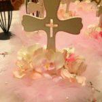 manualidades para bautizo de niña centros de mesa