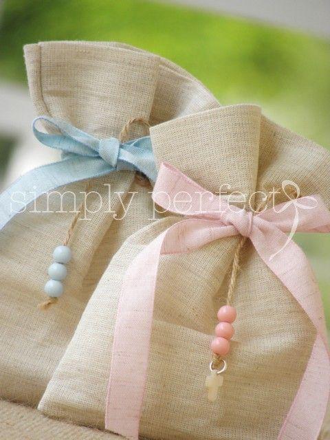 manualidades para bautizo de niña dulceros