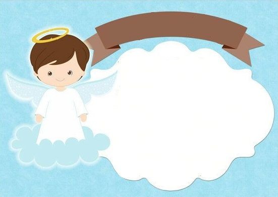 tarjeta de angeles para comunion