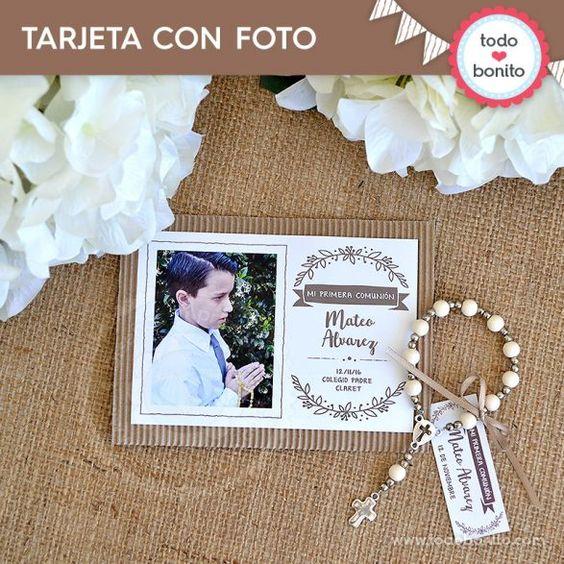 tarjetas con fotografias de comunion