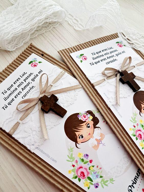 tarjetas con mensajes especiales de primera Comunión
