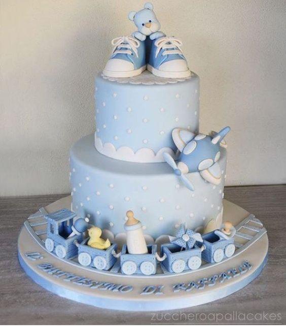torta para baby shower niño