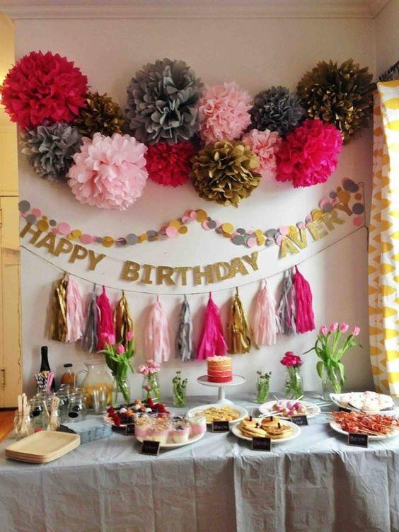 Decoración cumpleaños mujer joven