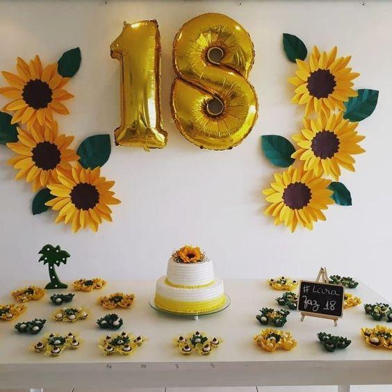 Decoración de cumpleaños sencilla