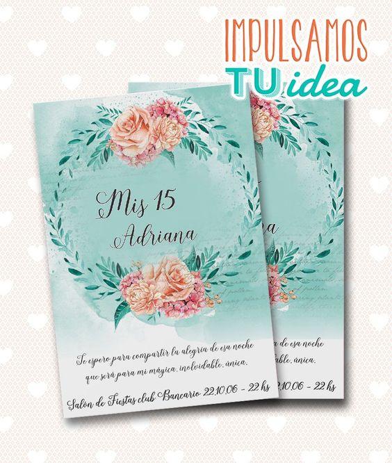 Invitaciones para xv años sencillos
