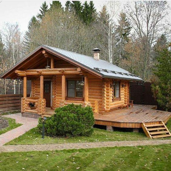 Casa de campo construida con madera