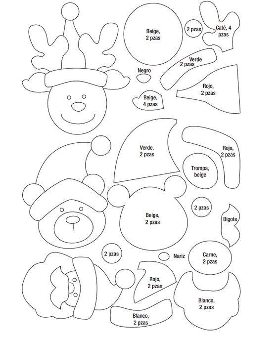 Moldes de navidad en foami para imprimir