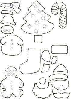 Patrones de figuras navideñas en goma eva