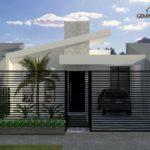 fachadas modernas con techos inclinados
