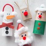 manualidades navideñas para niños con material reciclado