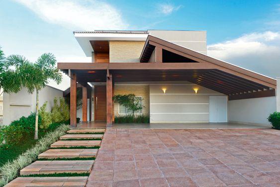 techos inclinados de casas modernas grandes
