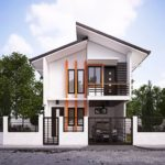 techos inclinados para casas con porton