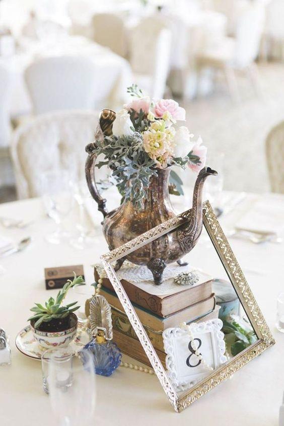 Centros de mesa para fiesta de cumpleaños del jardín secreto