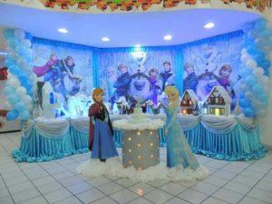 Decoración para fiesta de cumpleaños de frozen