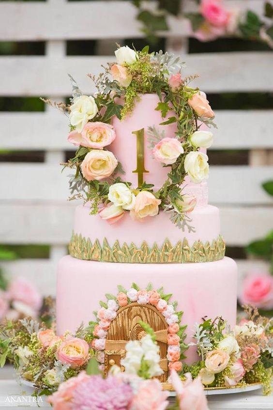 Pasteles para fiesta de cumpleaños del jardín secreto