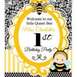 Invitaciones para fiesta de la abeja reina