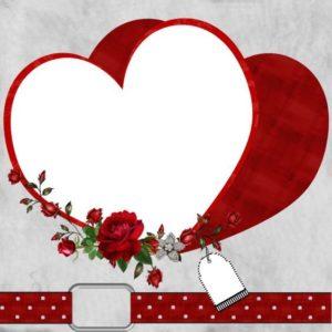 marcos para fotos en forma de corazon