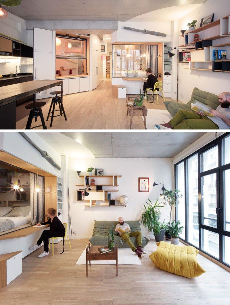 Apartamento con gran n mero de soluciones creativas para espacios peque os ideas bonitas para - Soluciones para espacios pequenos ...