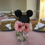 Centros de mesa de Minnie mouse modernos
