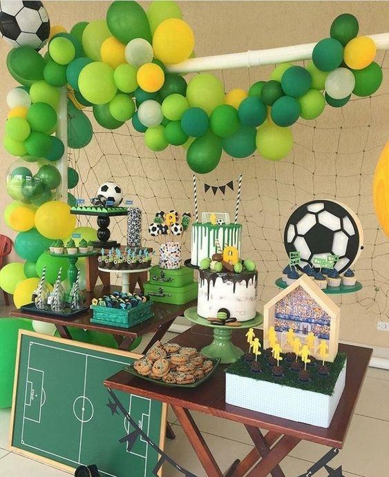 Decoración de fiestas infantiles de fútbol