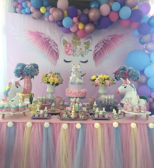 Decoración de fiestas infantiles de unicornio
