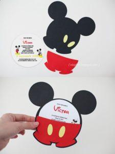Diseños de invitaciones de mickey
